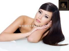 100% натуральные срезы славянских волос(Волосы Украинские) цвет горький шоколад-темный шоколад