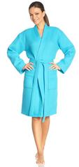 Элитный халат вафельный Rom turquoise от Vossen