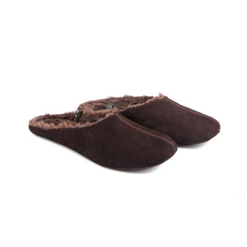 777137 туфли домашние мужские коричневые шерсть. КупиРазмер — обувь больших размеров марки Делфино