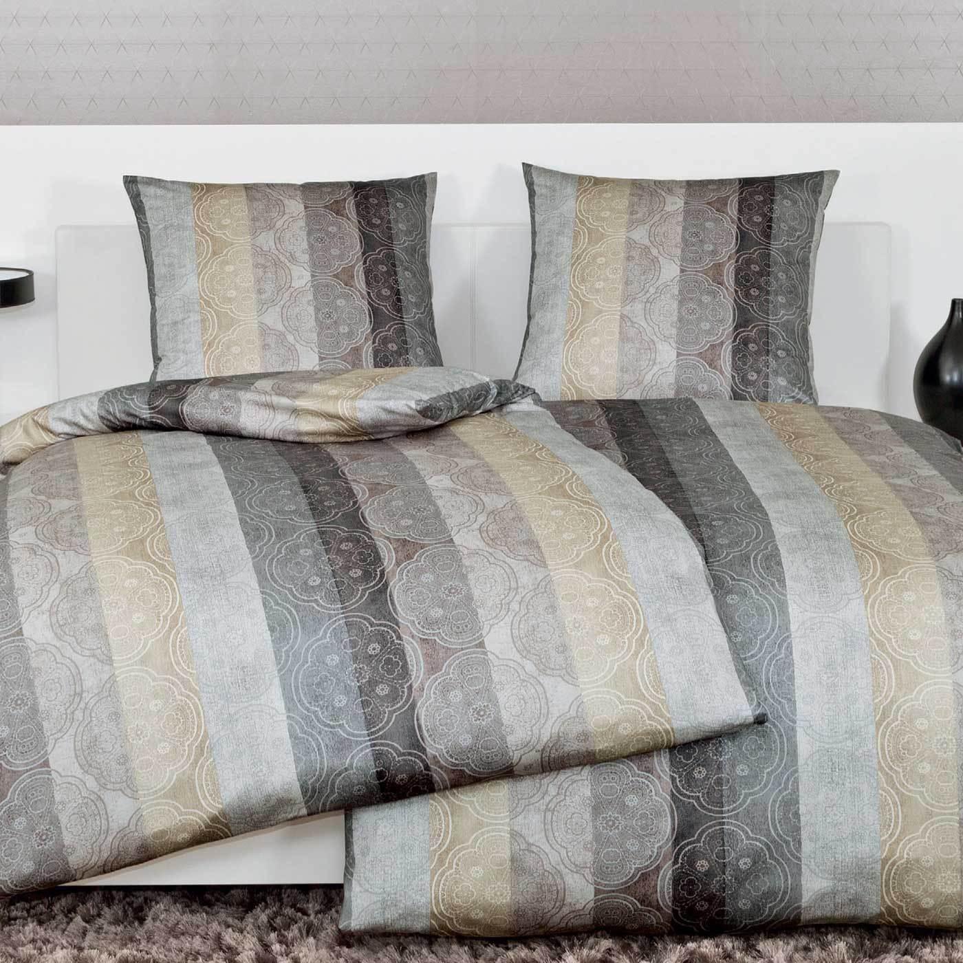 Постельное белье 1.5 спальное Janine Messina 4720 taupe-kitt-silber