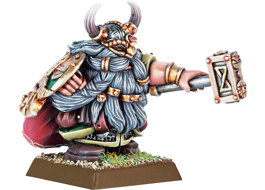 Dwarf Lord with Hammer & Shield