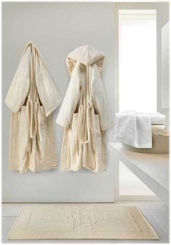 Элитный халат-кимоно велюровый Logo серый от Roberto Cavalli