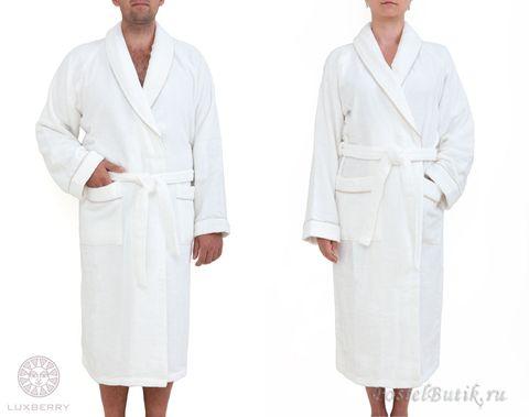 Элитный халат махровый Basic белый от Luxberry