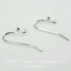 Швензы - крючки c шариком (цвет - платина) 22 мм ,5 пар