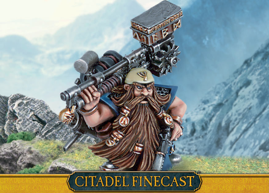 Dwarf Master Engineer with Great Weapon