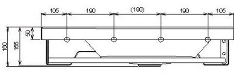 Ravak Rosa Comfort умывальник левый в комплекте с полотенцедержателем (XJ8L1100000)