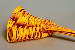 Сухоцветы.Конус обратный желтый 10 шт.