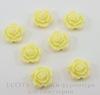 """Кабошон акриловый """"Роза"""", цвет - желтый, 15 мм"""