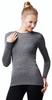 Женская термофутболка с длинным рукавом и круглым воротом серая Norveg Soft Shirt (14SW1RL-014)