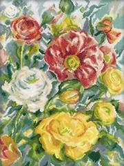 Набор для вышивания Акварель розы