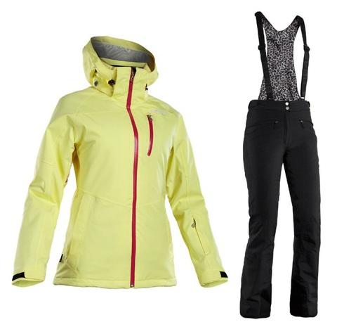 Костюм горнолыжный 8848 Altitude Theia/Poppy женский Yellow/Black