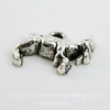 "Подвеска ""Коза"" 14х11 мм (цвет - античное серебро)"