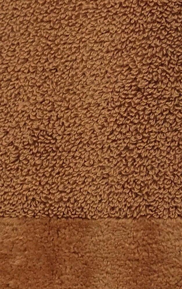 Элитный коврик для ванной Fyber коричневый тонкий от Carrara