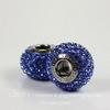 80101 Бусина Сваровски BeCharmed Pave Sapphire 14х9 мм ()