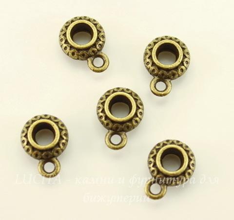 """Бейл """"Фонарик"""" (цвет - античная бронза) 12х9х5 мм, 5 штук"""