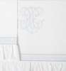 Бампер для детской кроватки 185х45 Bovi Вензель бело-голубой