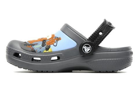 Сабо Крокс (Crocs) пляжные шлепанцы кроксы для мальчиков, цвет серый. Изображение 2 из 7.