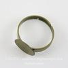 Основа для кольца с круглой площадкой 12 мм (цвет - античная бронза)