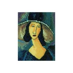 Набор для вышивания Портрет женщины в шляпе