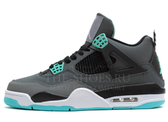 Кроссовки Мужские Nike Air Jordan 4 Retro Grey Turq White