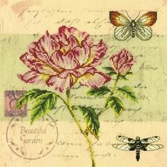 Набор для вышивания Почтовая открытка - Пион