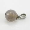 Держатель для бусины - петелька 7х5 мм (цвет - античное серебро), 10 штук