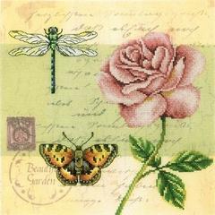 Набор для вышивания Почтовая открытка - Роза