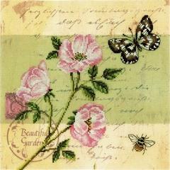 Набор для вышивания Почтовая открытка - Шиповник