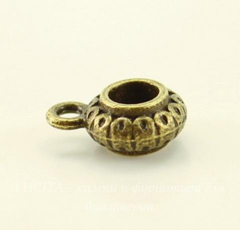 """Бейл """"Фонарик"""" 12х9х5 мм (цвет - античная бронза) , 5 штук"""