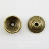 """Шапочка для бусины """"Пирамидка"""" 10х4 мм (цвет - античная бронза), 10 штук"""