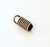 Пружинка для шнура 2,5 мм, 9х4 мм (цвет - античная бронза) , 10 штук