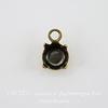 Сеттинг - основа - подвеска для страза 4,6 мм (оксид латуни) ()