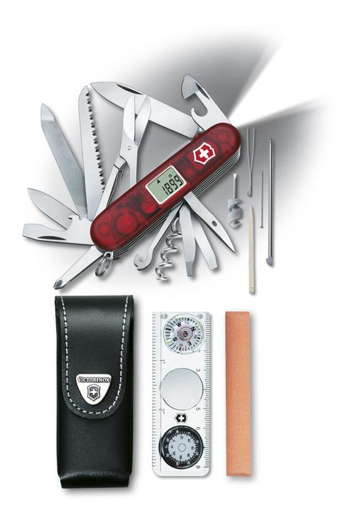 Швейцарский нож Victorinox Expedition Kit, 91 мм, 41 функ, красный полупрозрачный  (1.8741.AVT)