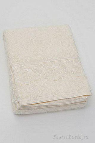 Набор полотенец 2 шт Casa Anversa Rosetta с кружевом кремовый