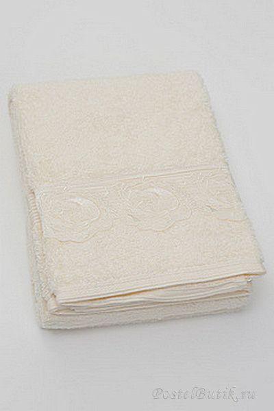 Наборы полотенец Набор полотенец 2 шт Casa Anversa Rosetta с кружевом кремовый mahrovie-polotentsa-rosetta-casa-anversa.jpg