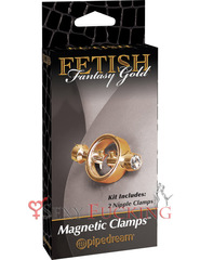 Зажимы на соски Fetish Fantasy Gold Magnetic Clamps на магните