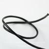 Шнур (нат. кожа), 2 мм, цвет - черный, 10 м