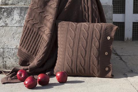 Наволочка декоративная 40х40 Luxberry Imperio 233 коричневая замша