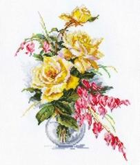 Набор для вышивания Алиса Желтые розы