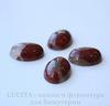 Кабошон овальный Яшма Брекчиевая (цвет - темно-красный) 18х13х6 мм №9 ()
