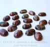 Кабошон овальный Яшма Брекчиевая (цвет - темно-красный с бежевым) 18х13х6 мм №2 ()