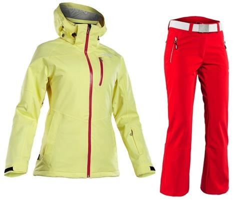 Костюм горнолыжный 8848 Altitude Theia/SPIN SOFTSHELL женский Yellow/Red