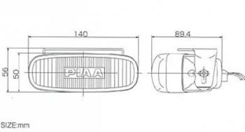 Дополнительные фары PIAA 931-X series L-36 (полупрожектор Mirror blue)