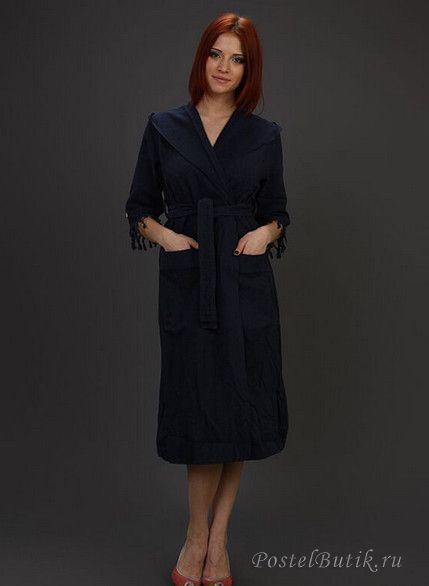 Халаты Элитный халат хлопковый Meyzer Tassels синий от Hamam elitniy-halat-meyzer-tassels-siniy-ot-hamam-turtsiya-vid-speredi.jpg