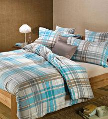 Постельное белье 1.5 спальное Caleffi Finlandia бирюзовое