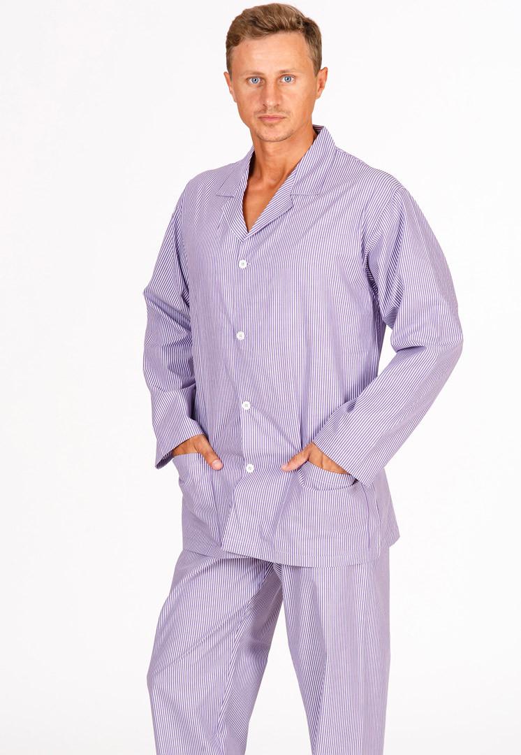 Пижама мужская классического кроя B&B (Домашние костюмы и пижамы)