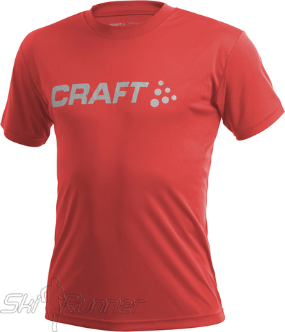 Футболка Craft Active Run Logo Red мужская