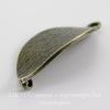 "Коннектор ""Листик"" (1-1) 31х16 мм (цвет - античная бронза)"