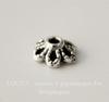 """Шапочка для бусины """"Цветочек маленький"""" (цвет - античное серебро) 6х2 мм, 10 штук"""