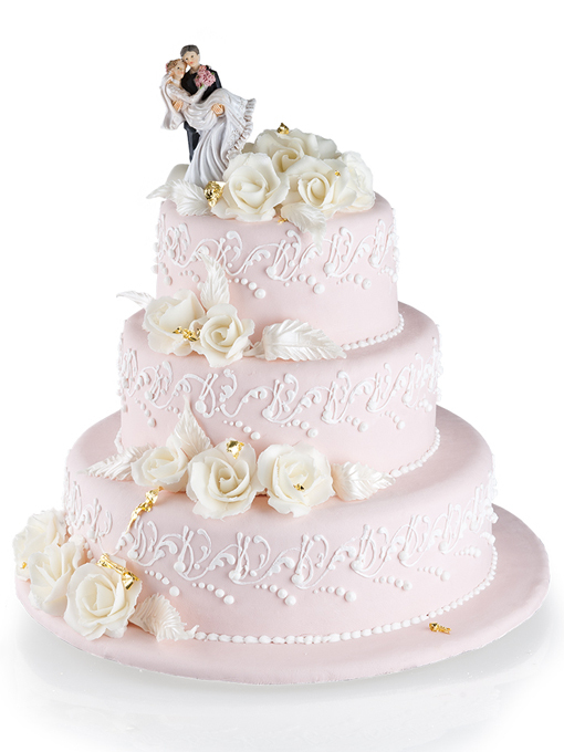 Торт 2 ярусный свадебный